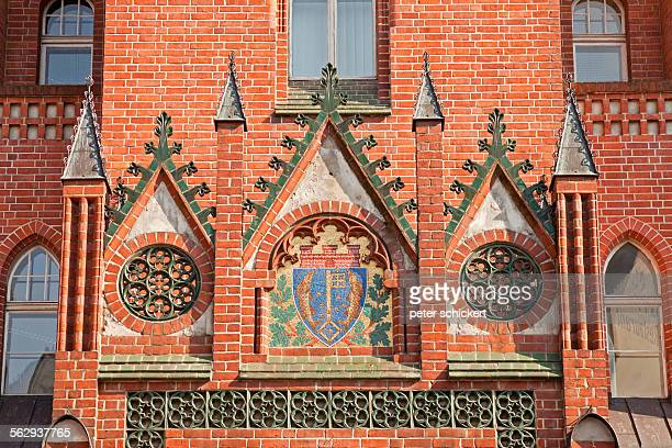 coat of arms at the town hall of kopenick, berlin, germany - köpenick stock pictures, royalty-free photos & images