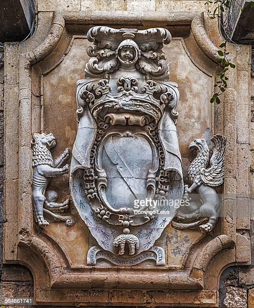Coat of arms in Foro Vittorio Emanuele II Syracuse
