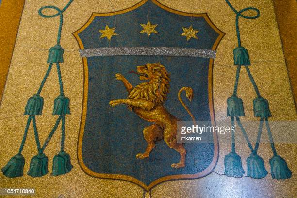 coat of arms, lecce, salento, apulia, italy. - coat of arms stock pictures, royalty-free photos & images