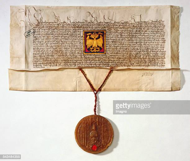 Coat of Arms letter of Emperor Friedrich III for Vienna Deed dated 26th September 1461