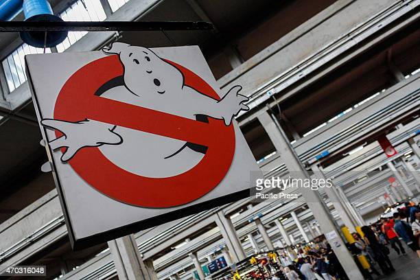 Coat of arms of Ghostbusters Thousands of visitors to the twentyfirst edition of Turin Comics the fair that brings together fans of comics cartoons...