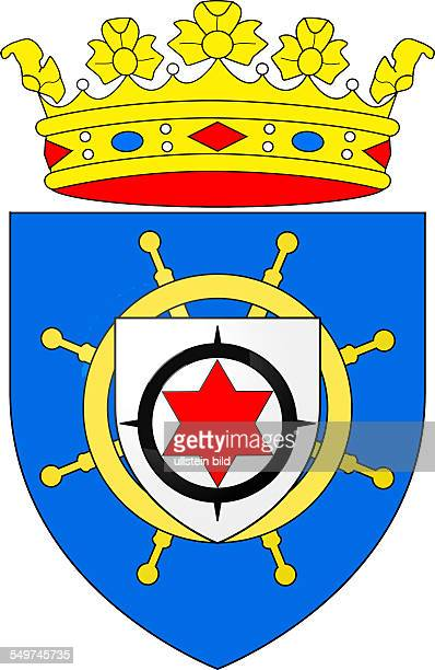Coat of arms of the Caribbean island of Bonaire. Part of the Netherlands Antilles