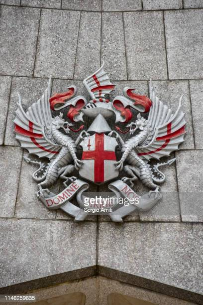 coat of arms of the city of london - coat of arms stock pictures, royalty-free photos & images