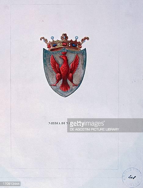 Coat of arms of the House of Nibbia from Novara Italy 14th century Novara Archivio Di Stato Di Novara