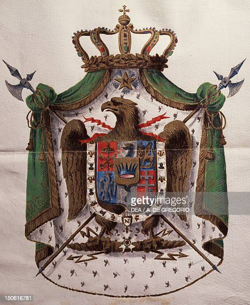 Coat of arms of the Kingdom of Italy, founded in 1805. Heraldry, Italy, 19th century.