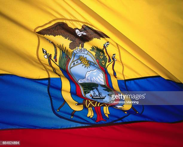 Coat of Arms on State Flag of Ecuador