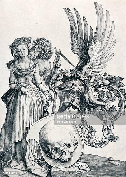 'Coat of Arms with a Skull' 1503 From Durer Des Meisters Gemalde Kupferstiche und Holzschnitte in 471 Abbildungen [Stuttgart und Leipzig Deutsch...