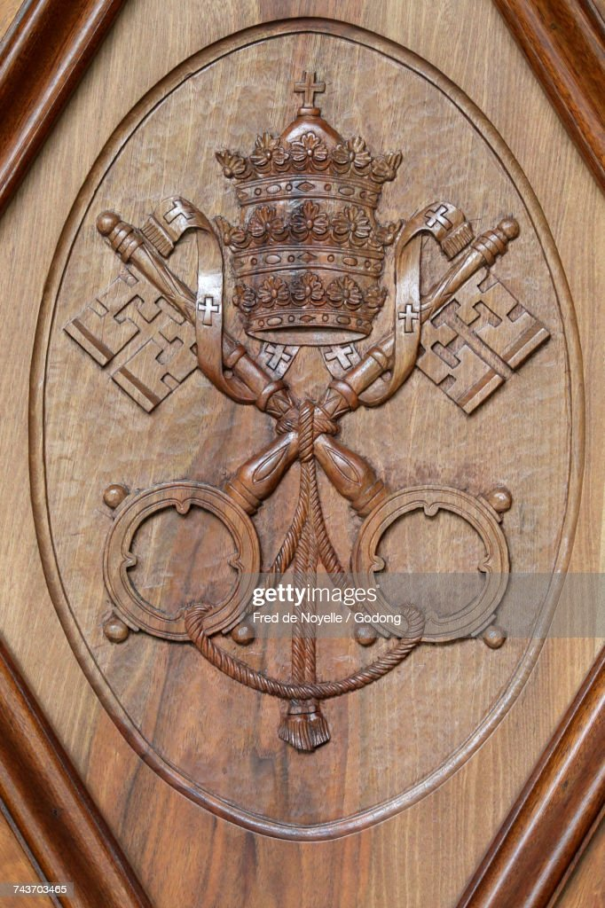 Coats Of Arms Of The Holy See And Vatican City Two Keys