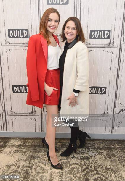 Coauthor Bailee Madison with her mother Patricia Riley visit the Build Series to discuss the book Losing Brave at Build Studio on February 1 2018 in...