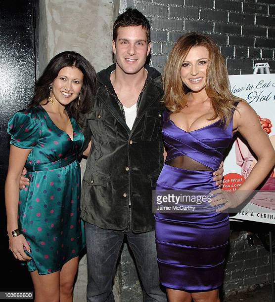 Coauthor Jodi Lipper actor Jay Jablonski and coauthor Cerina Vincent attend the How to Eat Like a Hot Chick Book Release Party on January 10 2008 at...