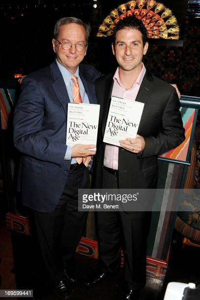 CoAuthors Eric Schmidt Executive Chairman of Google and Jared Cohen Director of Google Ideas attend the launch of 'The New Digital Age Reshaping The...