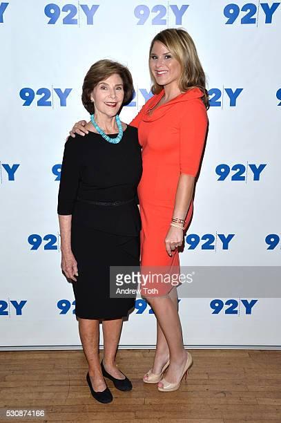 Coauthors Laura Bush and Jenna BushHager attend 92Y Talks Laura Bush Jenna BushHager on May 11 2016 in New York New York