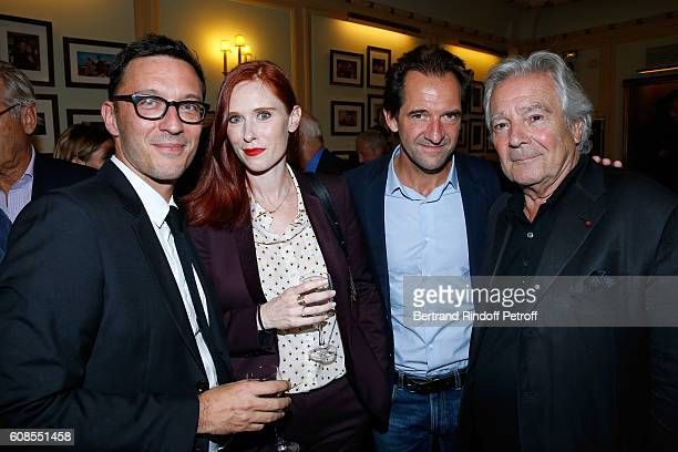 CoAutor of the play Alexandre de la Patelliere Audrey Fleurot actor of the play Stephane De Groodt and Pierre Arditi attend the 'Tout ce que vous...