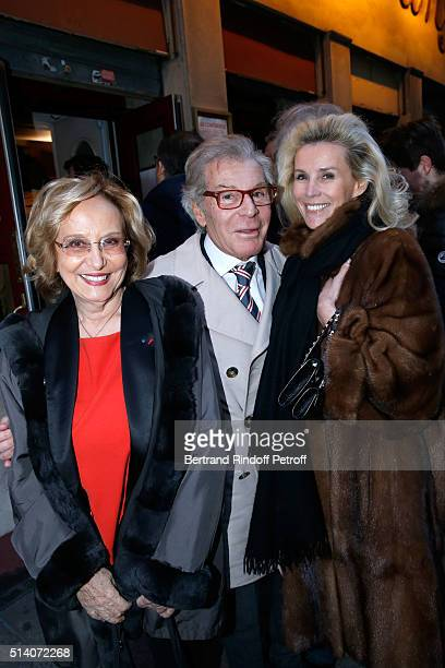 CoAutor of the Theater Play Edwige Antier JeanDaniel Lorieux and his companion Laura Restelli Brizard attend the 'Garde Alternee' Theater Play at...
