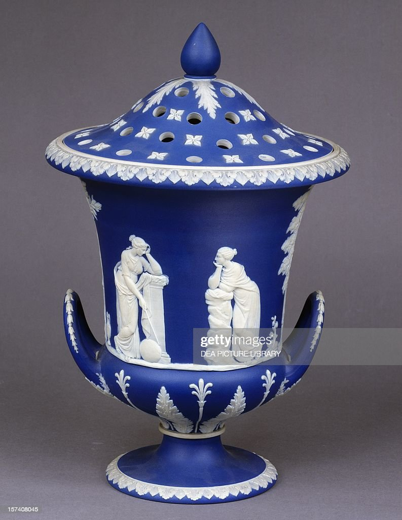 Cobalt blue vase with lid ceramic pictures getty images cobalt blue vase with lid ceramic wedgwood manufacture staffordshire england 18th floridaeventfo Image collections
