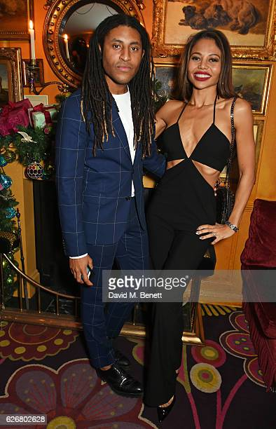 Cobbie Yates and Emma McQuiston Viscountess Weymouth attend the Sunday Times Style Christmas Party at Annabel's on November 30 2016 in London England