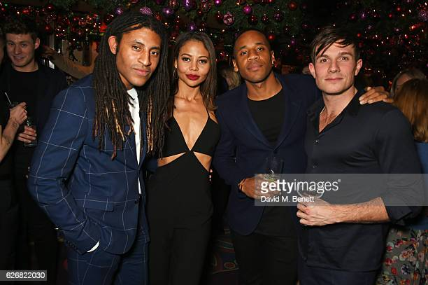 Cobbie Yates Emma McQuiston Viscountess Weymouth Reggie Yates and Will Best attend the Sunday Times Style Christmas Party at Annabel's on November 30...