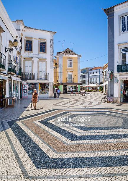cobbled faro old town algarve - faro stock pictures, royalty-free photos & images