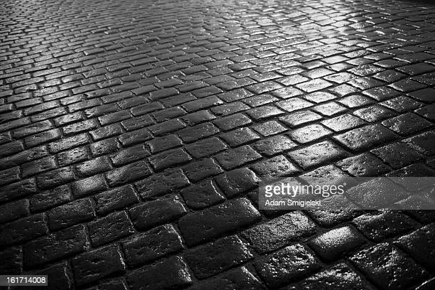 cobbled road - kullersten bildbanksfoton och bilder