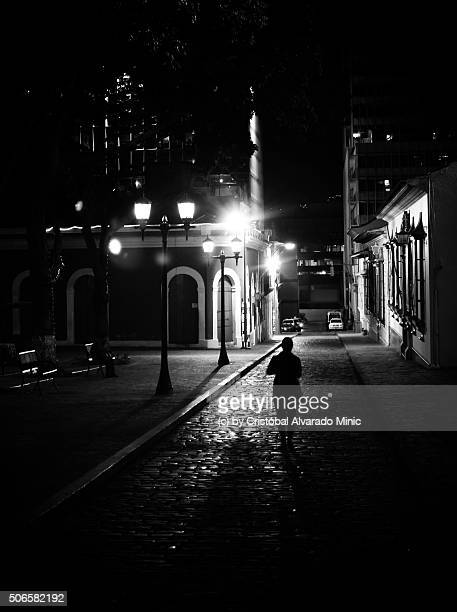 cobbled street in caracas - caracas stock pictures, royalty-free photos & images