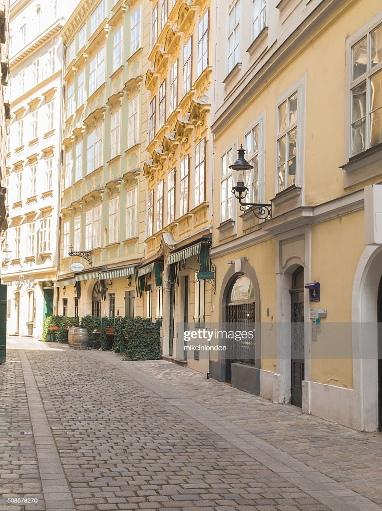 Cobbled Streets in Vienna : Stockfoto