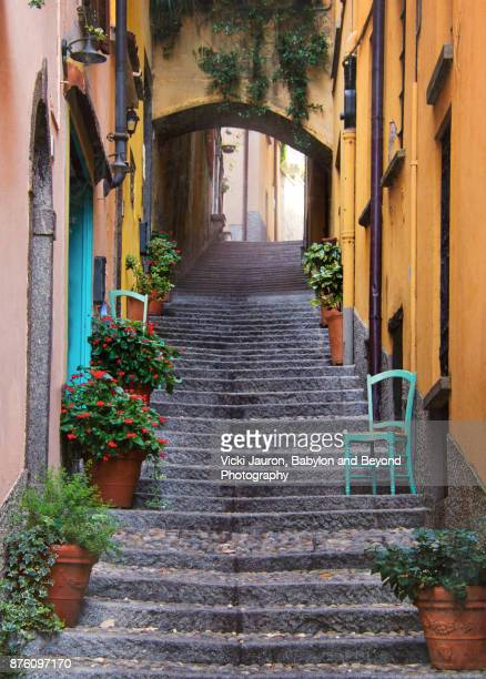 Cobbled Walkway in Bellagio, Italy
