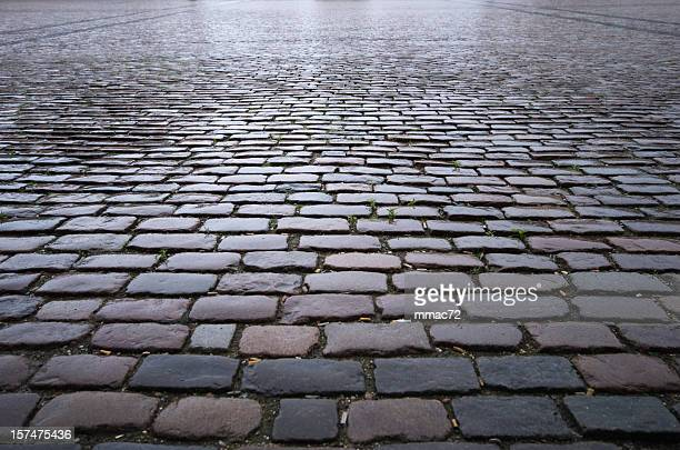 cobblestone background - paving stone stock pictures, royalty-free photos & images