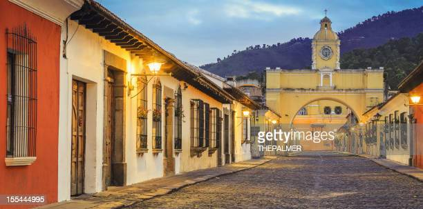Rue pavée antigua guatemala
