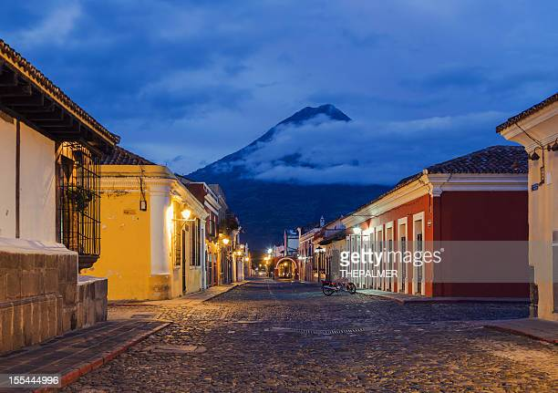 cobblestone street in Antigua Guatemal