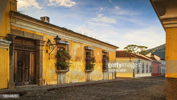 cobblestone street in Antigua Guatemala