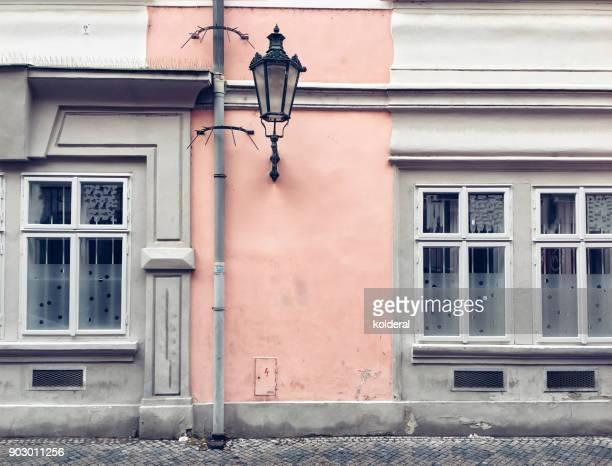 cobblestone street in prague old city historic center - judiskt museum bildbanksfoton och bilder