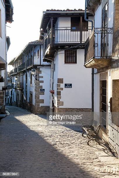 Cobblestone street in village of Candelario