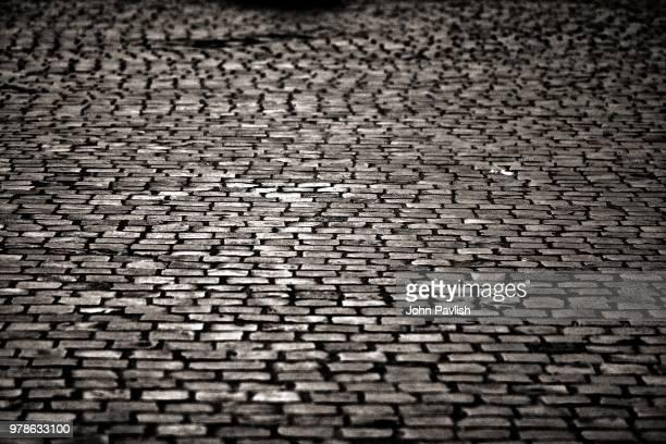Cobblestone street, Rome, Italy