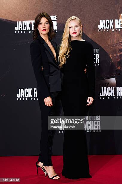 Cobie Smulders and Danika Yarosh attend the 'Jack Reacher Never Go Back' Berlin Premiere at CineStar Sony Center on October 21 2016 in Berlin Germany