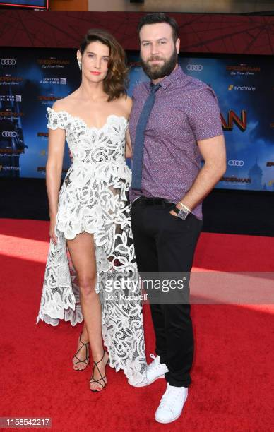 Cobie Smulders and Taran Killam attend the Premiere Of Sony Pictures' SpiderMan Far From Home at TCL Chinese Theatre on June 26 2019 in Hollywood...