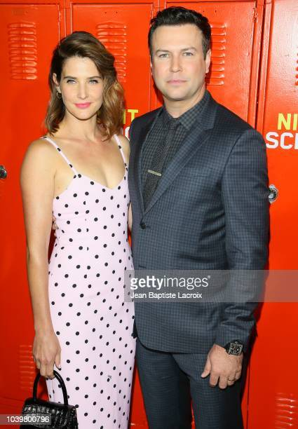 Cobie Smulders and Taran Killam attend the premiere of Universal Pictures' Night School on September 24 2018 in Los Angeles California