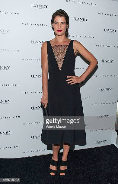 Cobie Smulders arrives at the Haney Launch Party With NetAPorter at mmhmmm at The Standard Hollywood on January 30 2014 in Hollywood California