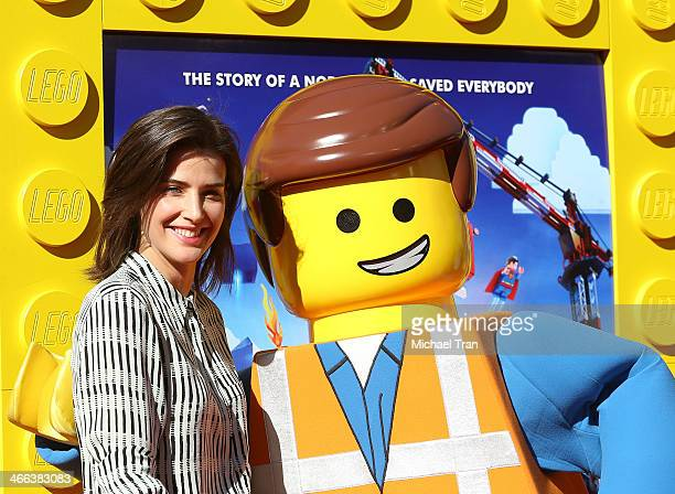 Cobie Smulders arrives at the Los Angeles premiere of 'The Lego Movie' held at Regency Village Theatre on February 1 2014 in Westwood California