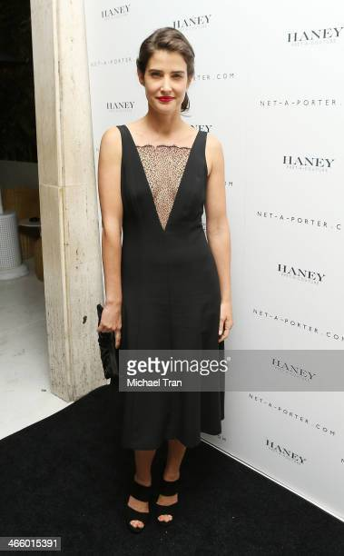 Cobie Smulders arrives at the NetAPorter and Haney PretACouture hosts launch party held at The Standard Hotel on February 1 2014 in Los Angeles...