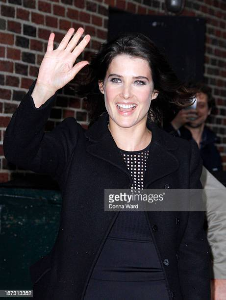 Cobie Smulders arrives for the 'Late Show with David Letterman' at Ed Sullivan Theater on November 7 2013 in New York City