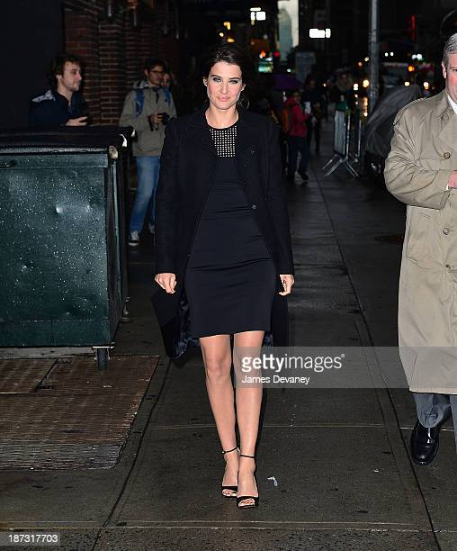 Cobie Smulders arrives to 'Late Show with David Letterman' at Ed Sullivan Theater on November 7 2013 in New York City