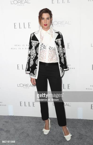 Cobie Smulders attends ELLE's 24th Annual Women in Hollywood Celebration at Four Seasons Hotel Los Angeles at Beverly Hills on October 16 2017 in Los...