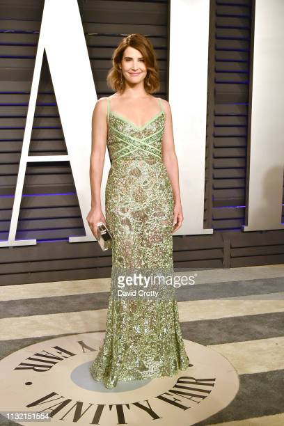 Cobie Smulders attends the 2019 Vanity Fair Oscar Party at Wallis Annenberg Center for the Performing Arts on February 24, 2019 in Beverly Hills,...