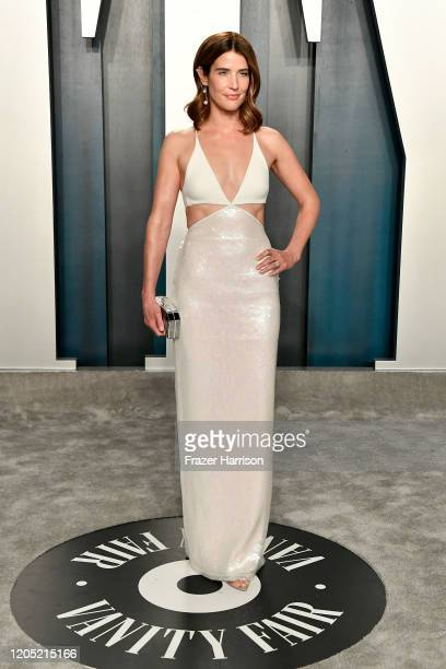 Cobie Smulders attends the 2020 Vanity Fair Oscar Party hosted by Radhika Jones at Wallis Annenberg Center for the Performing Arts on February 09...