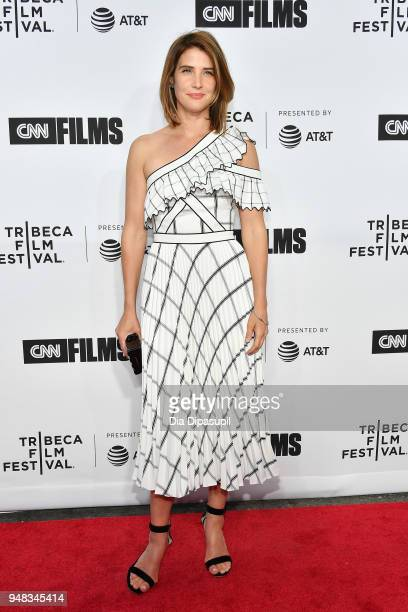 Cobie Smulders attends the opening night gala of 'Love Gilda' during the 2018 Tribeca Film Festival at Beacon Theatre on April 18 2018 in New York...