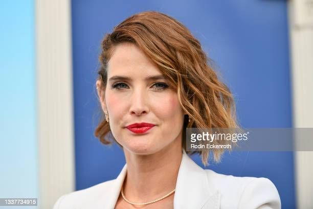 """Cobie Smulders attends the premiere of FX's """"Impeachment: American Crime Story"""" at Pacific Design Center on September 01, 2021 in West Hollywood,..."""