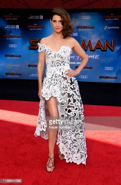 "Cobie Smulders attends the Premiere Of Sony Pictures' ""Spider-Man Far From Home"" at TCL Chinese Theatre on June 26, 2019 in Hollywood, California."