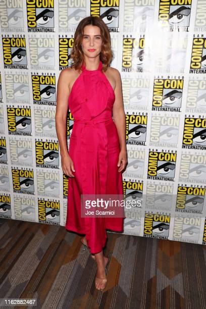 "Cobie Smulders attends the ""Stumptown"" press line at 2019 Comic-Con International on July 18, 2019 in San Diego, California."