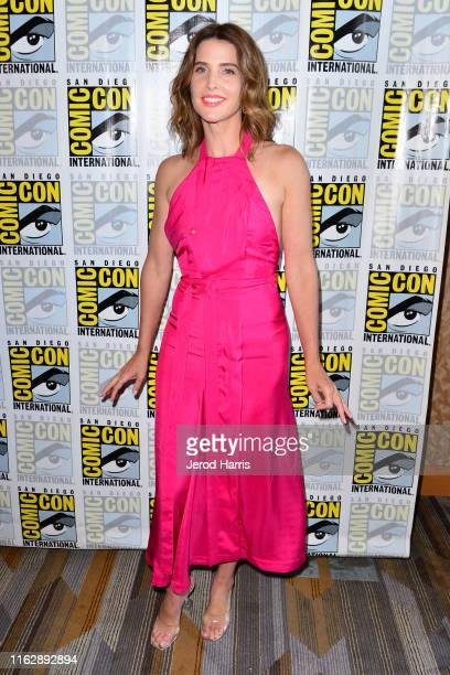 "Cobie Smulders attends the ""Stumptown"" press line on July 18, 2019 in San Diego, California."