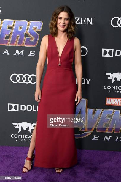 "Cobie Smulders attends the world premiere of Walt Disney Studios Motion Pictures ""Avengers: Endgame"" at the Los Angeles Convention Center on April..."